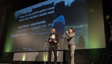 cena za najlepší krátky film - Adaptácia (r.Bartosz Kruhlik)